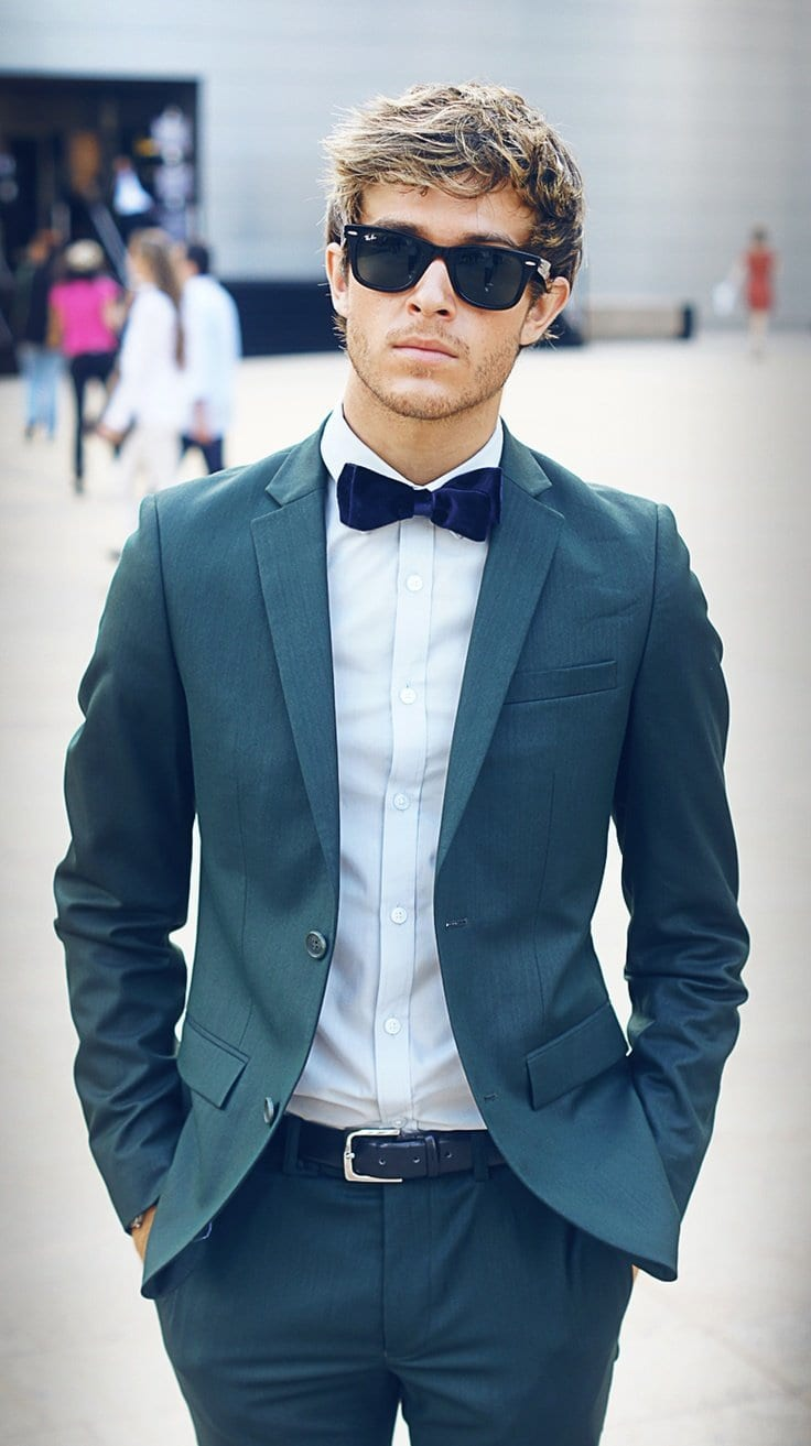 Stylish men in bow tie