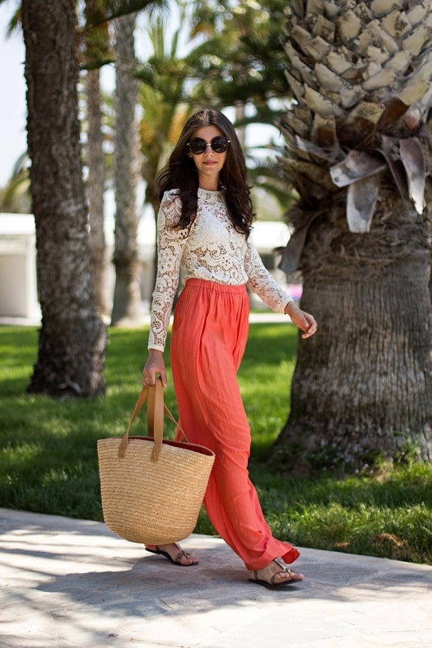 ecfe047fc11 28 Modern ways to Wear Palazzo Pants with other Outfits