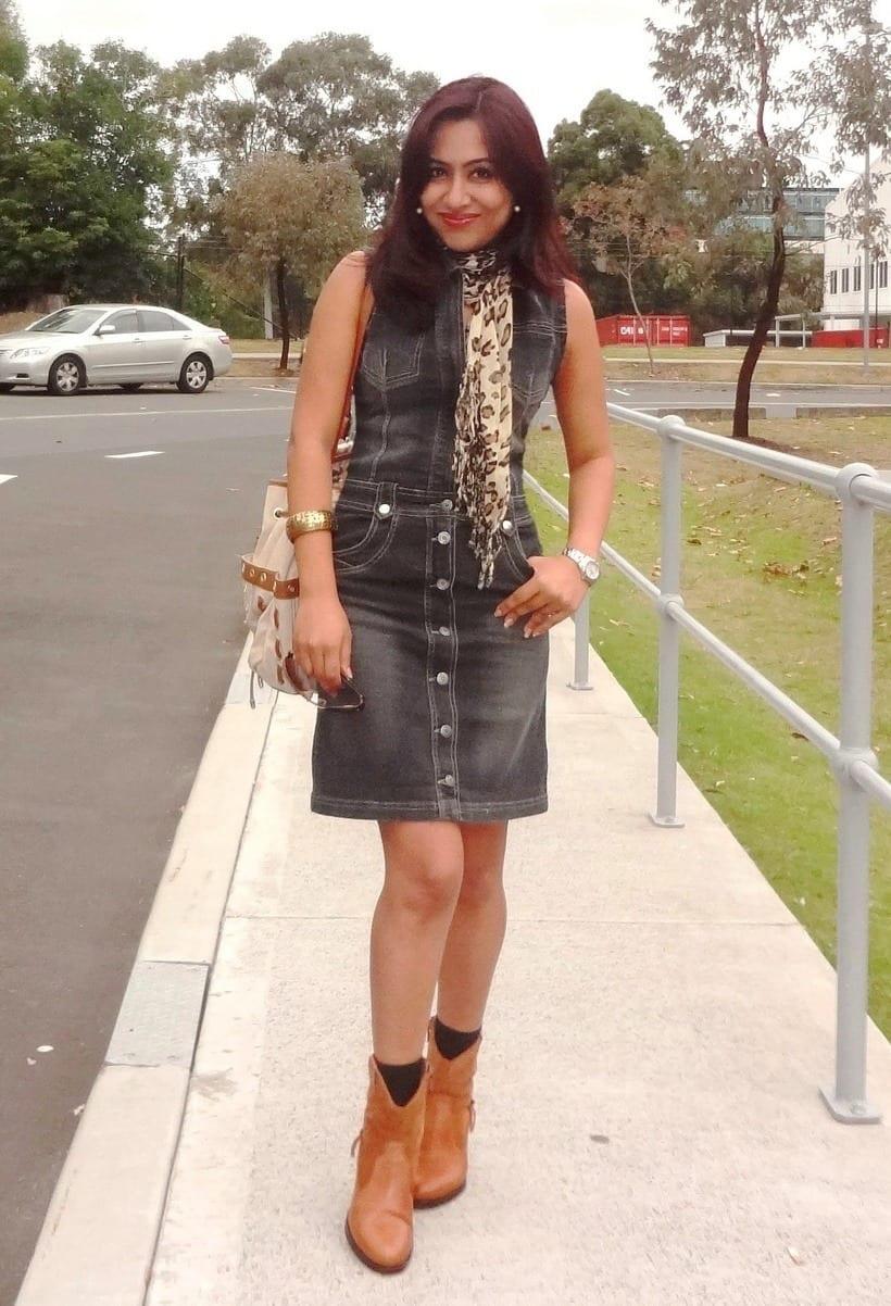 denim dresses trends