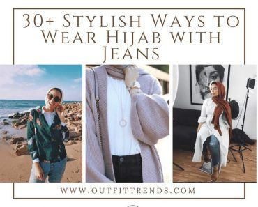 hijab with jeans outfits