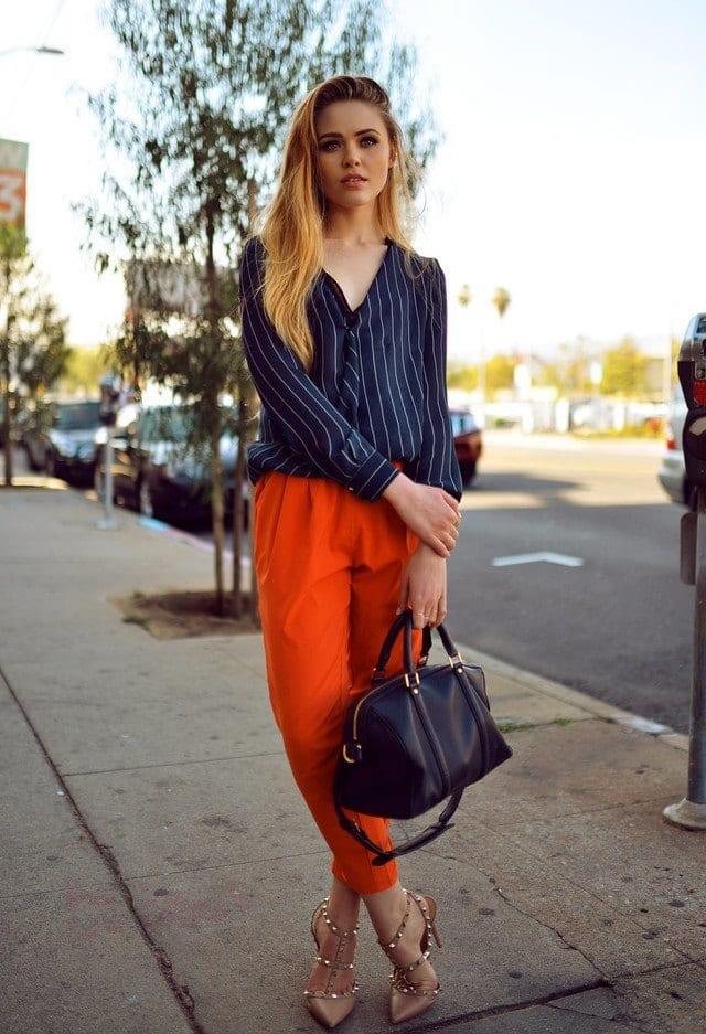 orange baggy pants