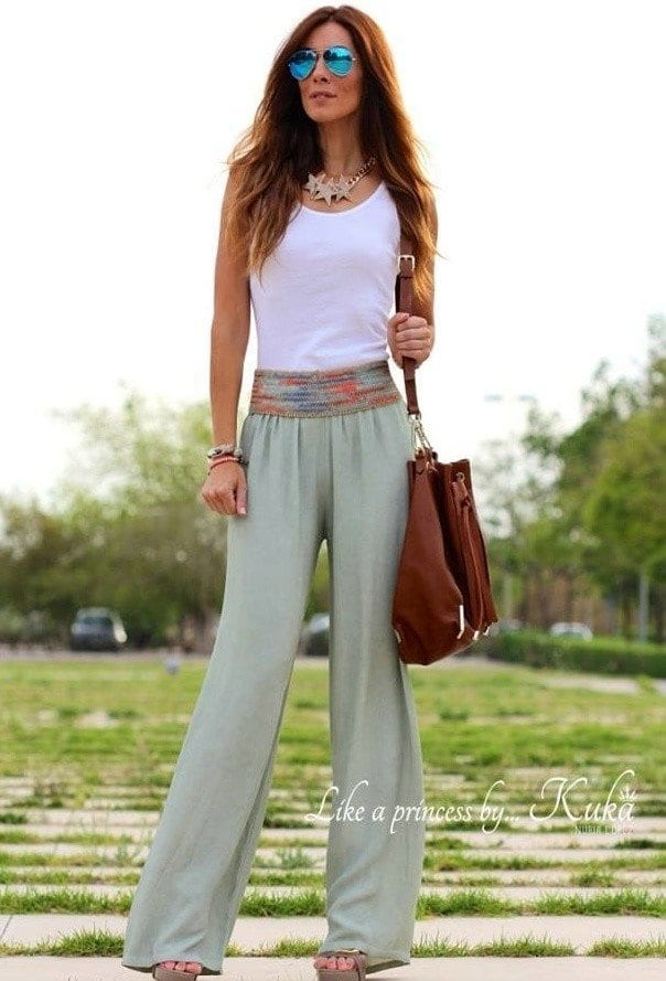 e8bf7c648d7 28 Modern ways to Wear Palazzo Pants with other Outfits