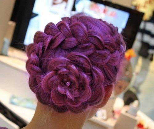 stylish purple hairs