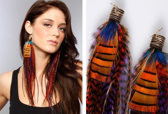 Beautiful Feather Earrings