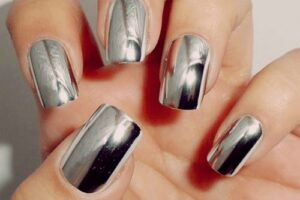 how to make metallic nails using aluminum