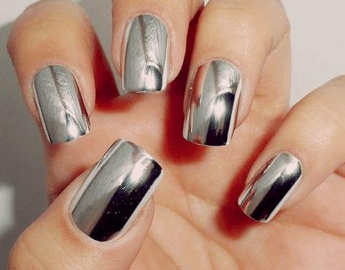 How to do Metallic Nail art-DIY metallic Nail Tutorial