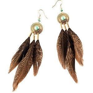 Buy online Feather Earrings