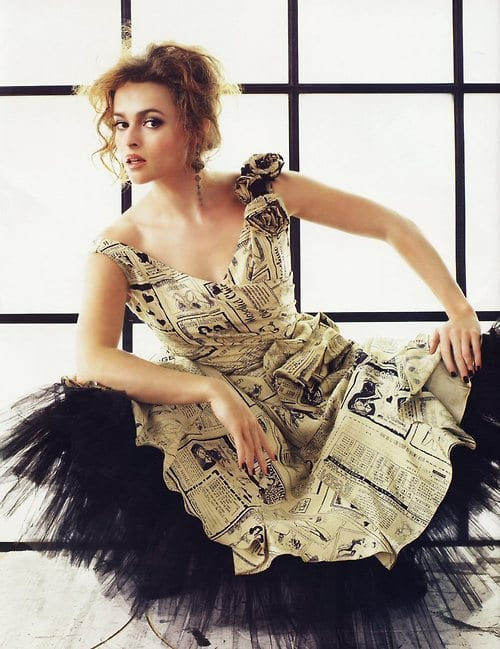Celebrities in paper dresses