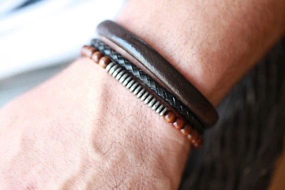 Cheap Men Leather Bracelets