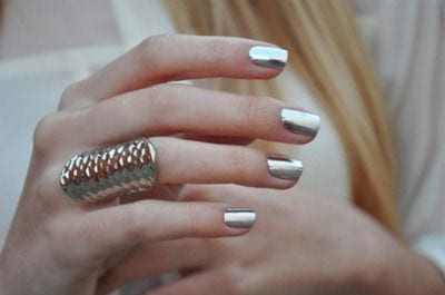 Cool Silver nail design