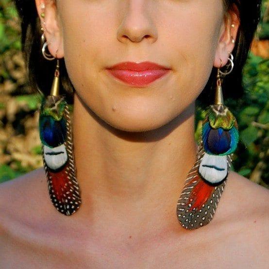 Feather Earrings Fashion