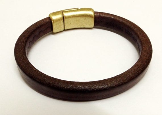 Handmade Men's leather cuff bracelet