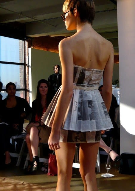 Newspaper short dresses