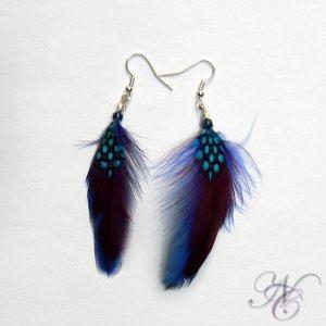Purple Feather Earring