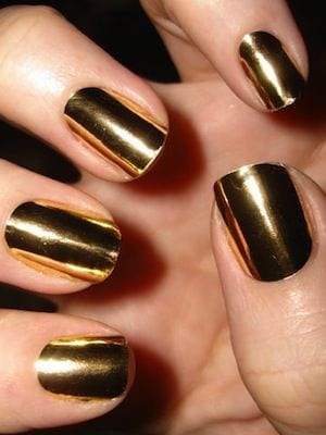 Shinny Gold Nails