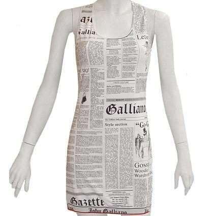 Sleeve Less paper dress