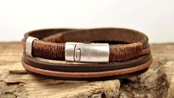Stylish Handmade Leather Bracelet