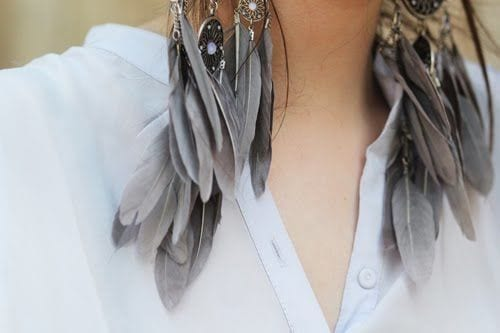 Trendy Feather Earrings