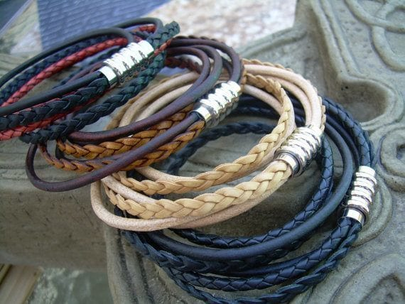 cool leather strap bracelets