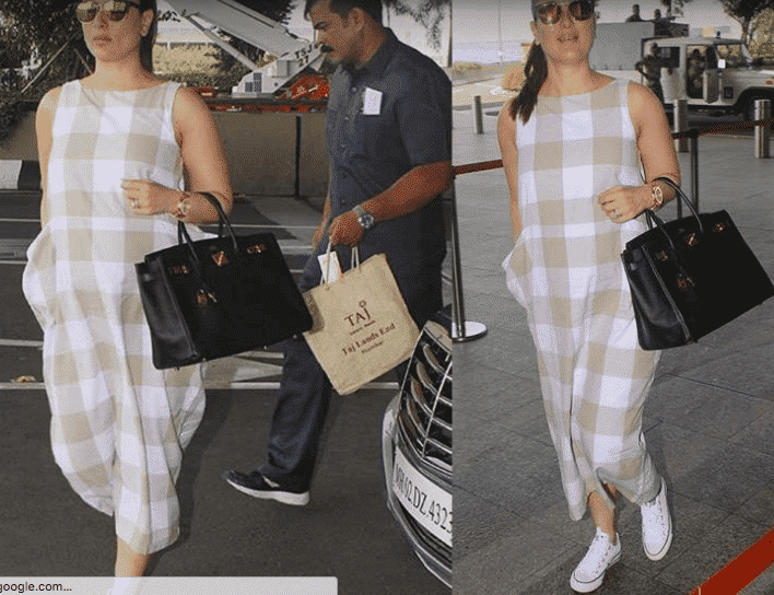 c8c4138e99 Here s another cool pregnancy look at the airport from Bollywood actress