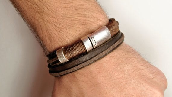 leather jewelry bracelets men