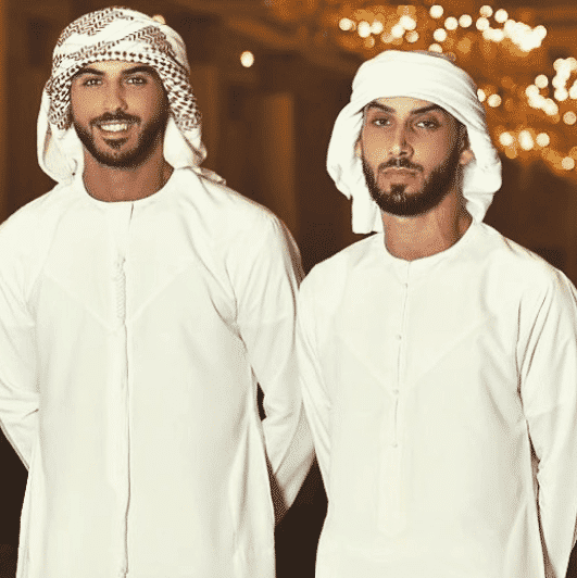 omar borkan with his brother