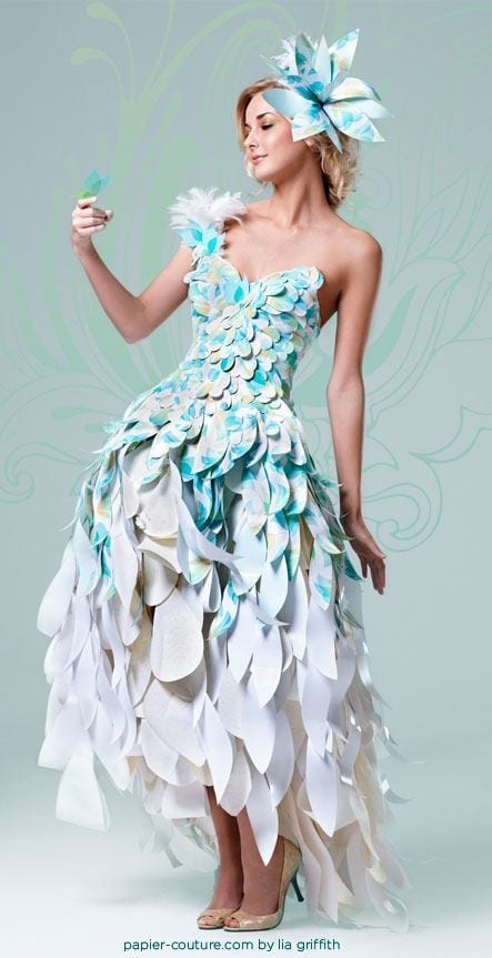 26 Amazing Paper Dresses Collection And Ideas