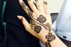 rose mehndi designs