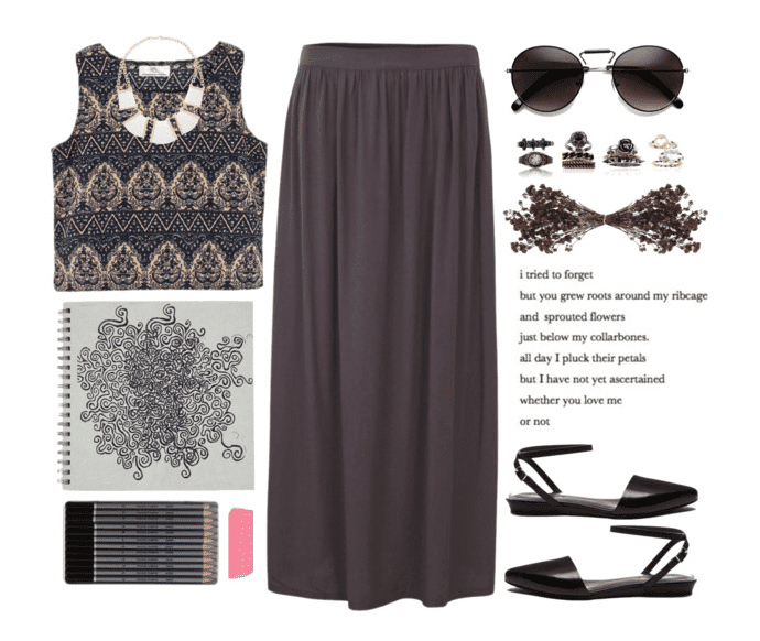 Cute bohemian outfit