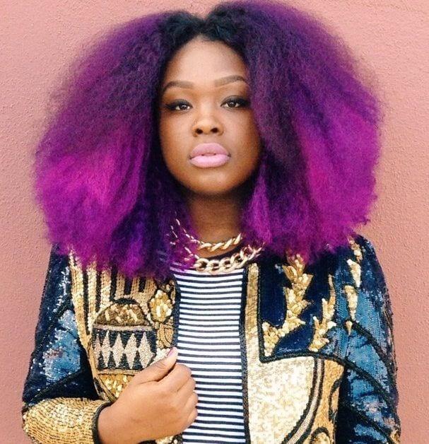 Dark purple Hairstyle for girls