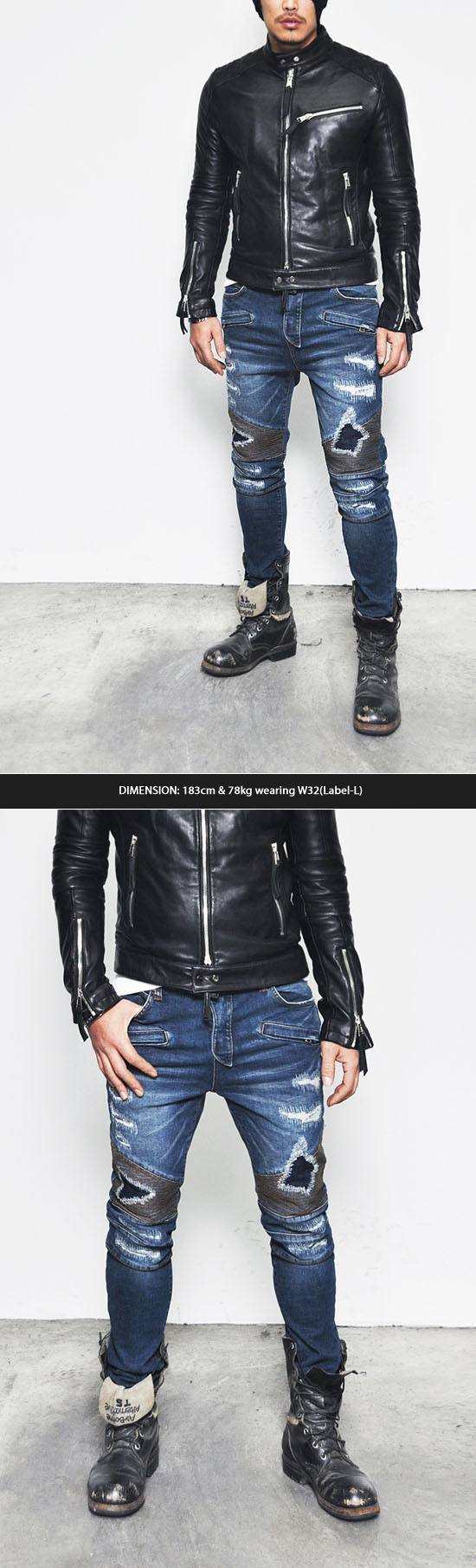 Funky Jeans with Leather Jackets