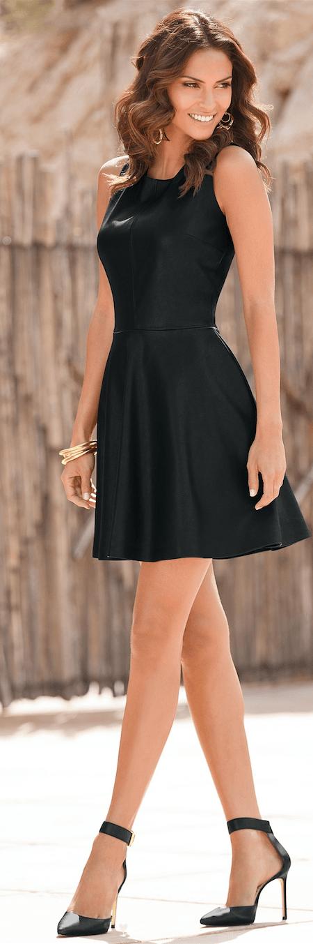 Ideas to Wear Leather Dress