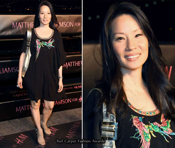 Lucy Liu stylish dress