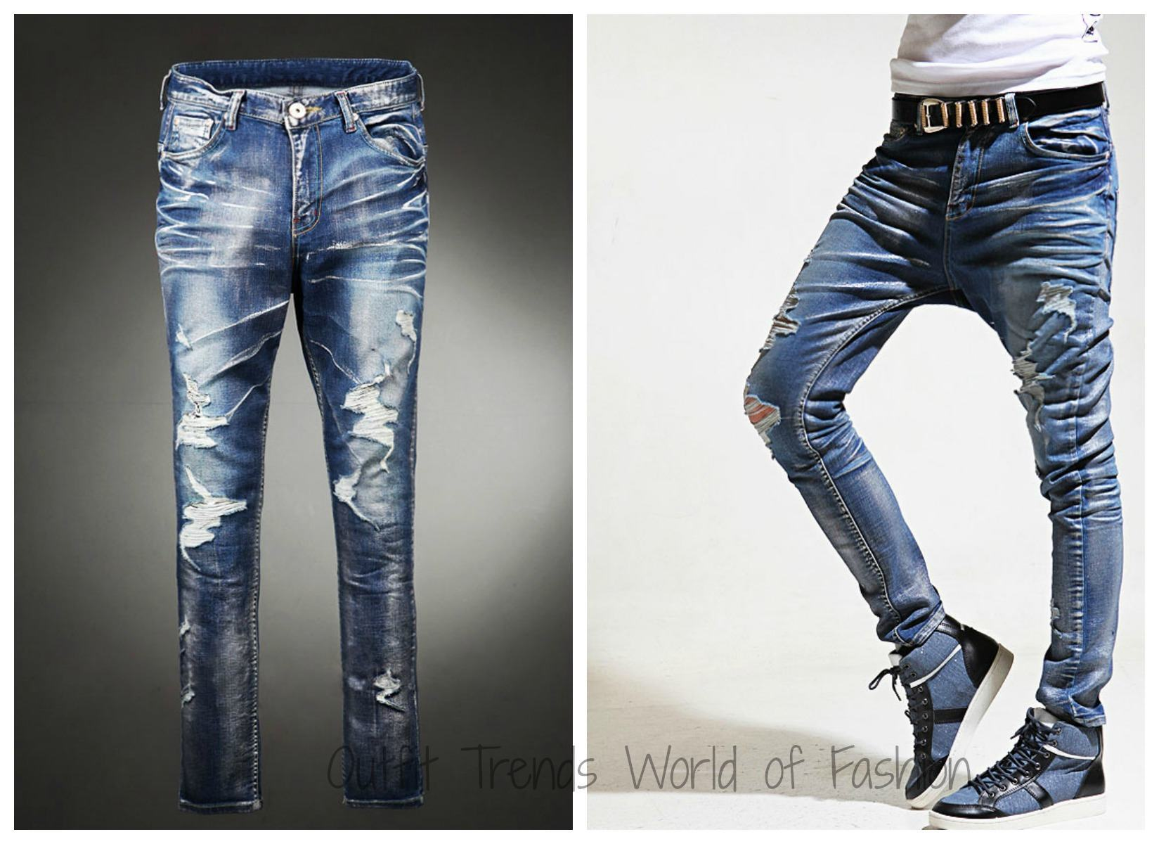 Teenage boys funky jeans