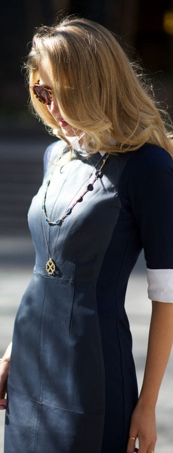 Trina Turk Leather Dress