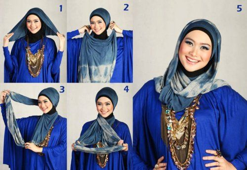 hijab tutorial for round face
