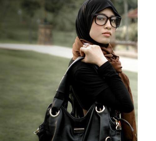Hijab glasses fashion
