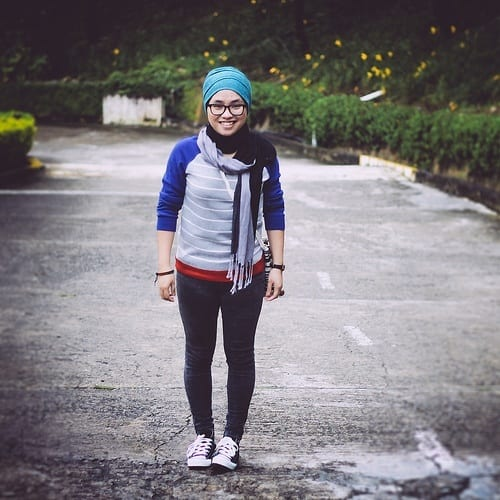 Hijab with Sneakers fashion