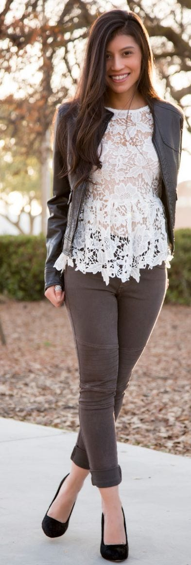Lace Peplum tops
