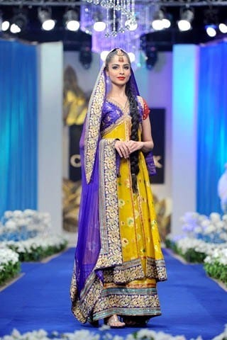 Latest Bridal Couture Mehndi Dresses
