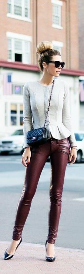 Peplum top winter fashion ideas