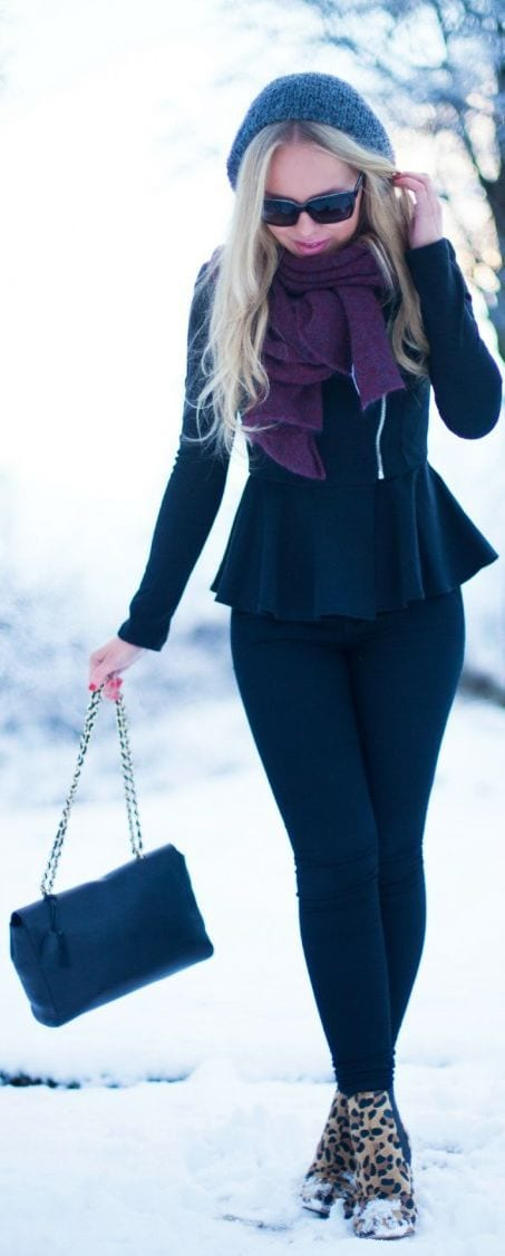 Peplum tops Style in Winters