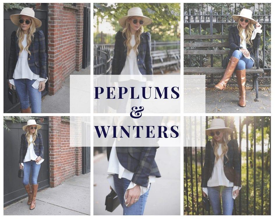 how to wear peplum tops in winters