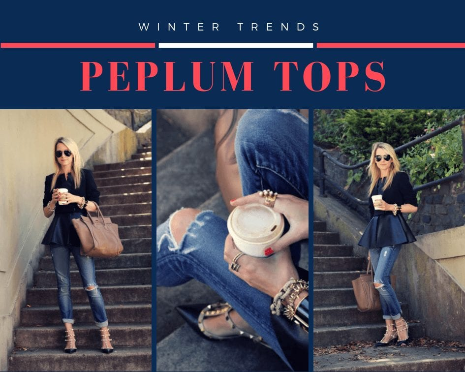 peplum outfits for winters