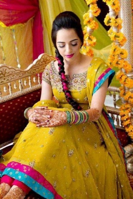 Yellow Bridal Dresses Pakistan
