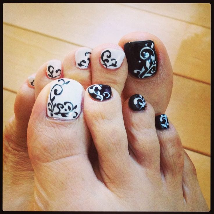 27 Funky Nail Art Designs Ideas: Funky Toe Nail Art-15 Cool Toe Nail Designs For Teenage Girls