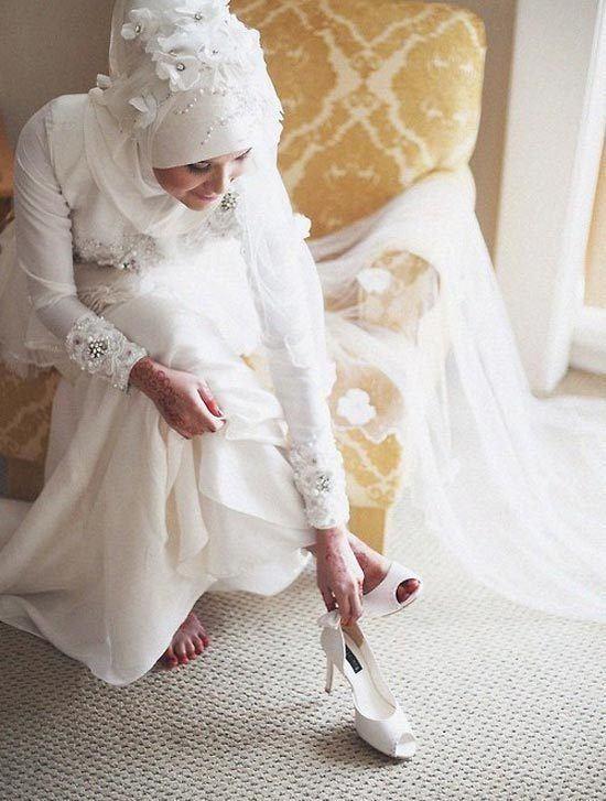 hijab wedding dress photo