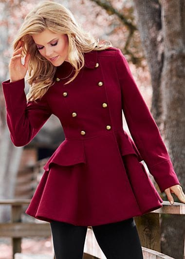 how to wear a peplum dress in winter