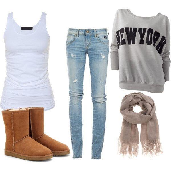 outfits with UGG boots