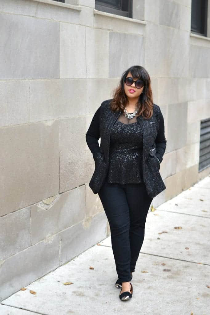 how to wear peplum top in winters